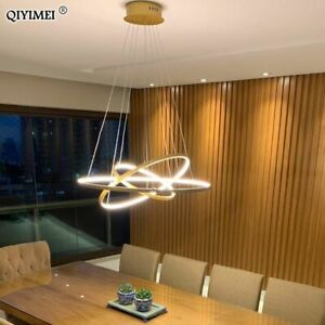 Modern LED Ceiling Light Lamp Pendant Dining Room Hanging Living Dimmable Round