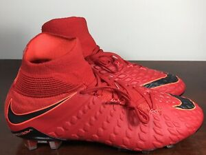 Men's Nike Hypervenom Phantom 3 DF FG University Red/Black 860643-617 Size 8.5