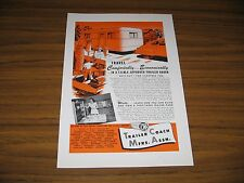1948 Print Ad Trailer Coach Mfrs Assn. Travel Trailer & Happy Lady
