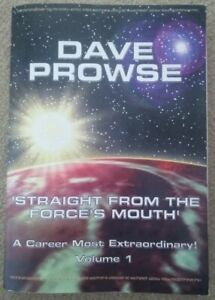 STRAIGHT FROM THE FORCE'S MOUTH VOLUME 1 DAVE DAVID PROWSE DARTH VADER SIGNED PB