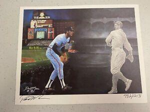 Cal Ripken/Lou Gehrig signed and numbered print by David Maas