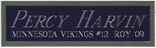 PERCY HARVIN NAMEPLATE FOR AUTOGRAPHED SIGNED FOOTBALL HELMET JERSEY PHOTO CASE