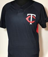 4658aa9c0a1 Minnesota Twins MLB Two Button Majestic Pullover Baseball Jersey Youth XL