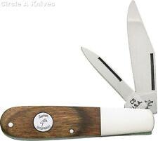 "BEAR & SON KNIFE - HERITAGE BARLOW - 3.5"" CLOSED - WALNUT HANDLES -1095HC Steel"