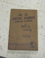 CATERPILLAR NO 12 MOTOR GRADER   PARTS CATALOG 70D1-UP