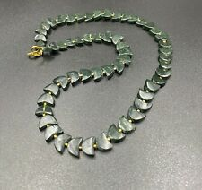 old antique Pyu period  green jade beads