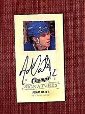 2009 - 2010 Upper Deck Champ's Signatures Adam Oates #CS-OA St. Louis Blues Card