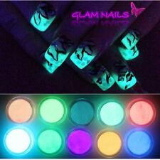 10 Farben Leuchtende Acryl Puder Pulver Nail Art Fluorescent Powder Maniküre