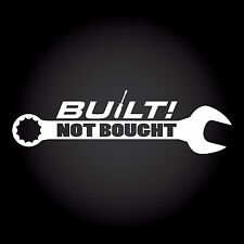 Built Not Bought Auto Aufkleber Sticker Decal JDM OEM DUB Shocker 20,0 x 5,8 cm