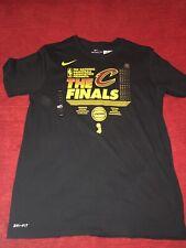 71178f9eb Cleveland Cavaliers Nike Dri Fit Black NBA Finals T Shirt Size L Lebron