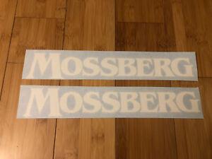"MOSSBERG 12"" (set Of 2) Stickers White Decal SUV Shotguns Guns Rifles Shot Cinyl"