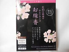 JAPANESE SHORT - STICK INCENSE Cherry blossom from JAPAN FREE SHIPPING !!