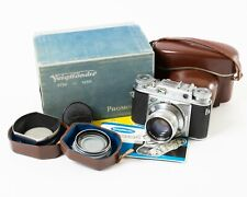 Voigtlander Prominent Camera w. Case + Ultron 50mm f/2 Lens + UV Filter & Shade