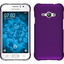 Hardcase for Samsung Galaxy J1 ACE rubberized purple Cover + protective foils