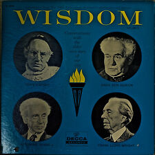 WISDOM: Conversations with the Elder Wise Men of Our Day-NM1961LP BEN-GURION+++