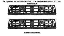 2x Top Kennzeichenhalter Nummernschildhalter Carbon Look 3D Optik 52 x 11 cm (37