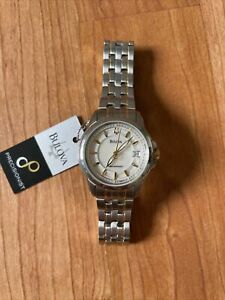 Bulover Precisionist Womens Watch Silver And Gold