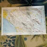 Hubbard Relief Raised 3D Map Santa Ana Mountains Orange, San Diego, Riverside Co