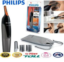 Philips Nose Ear Hair Shaver Trimmer Mens Cordless Eyebrow Grooming Kit Washable