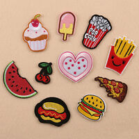 10Pcs Embroidery Pizza Chips Sew Iron on Patch Badge Bag Jeans Applique Set   AU