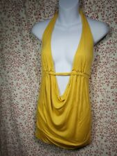 Charlotte Russe womens top size M yellow strapless open back #15