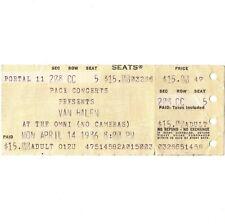 Van Halen & Bto Concert Ticket Stub Atlanta Ga 4/14/86 The Omni 5150 Tour Rare