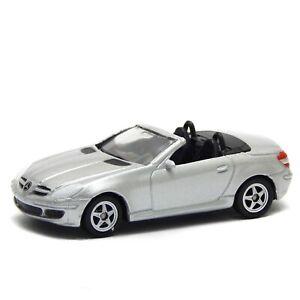 """Mercedes-Benz SLK 200 350 500 AMG Silver R171 Welly 1/64 3"""" inch Toy Car"""