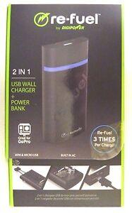 DigiPower - Portable Power Bank External Battery Charger - Black JS-5CMM Re-Fuel