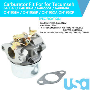 640306A Carburetor Fit For Tecumseh Yerf Dog Go Kart 5Hp 5.5Hp 6Hp 6.5Hp Engine