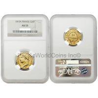France 1810-A 20 Francs Gold NGC AU53