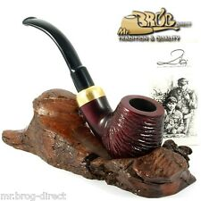 "Mr.Brog original smoking pipe nr 22 red carved "" BENT STECKER "" HAND MADE"