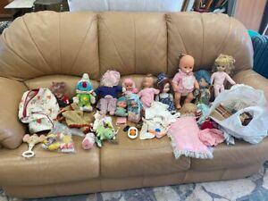 lotto bambole e accessori e giochi vintage