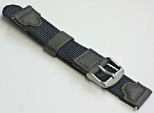 18mm Blue Fabric Nylon Canvas Watch Band Strap-NEW w/ Free Spring Bars