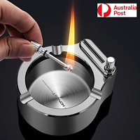 Cigarette Ashtray Match Torch Lighter Portable Ash Tray Tobacco Smoking Ashtray