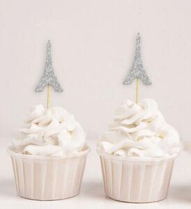 Darling Souvenir| Eiffel Tower Cupcake Toppers| Wedding Party Dessert-ujH