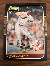 1987 Donruss Leaf Ron Guidry New York Yankess 101