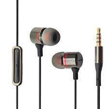 HIPOINT 2.0 DEEP BASS GUN METAL EARPHONES WITH MIC HEADPHONES FOR IPHONE SAMSUNG