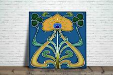 Art Nouveau Reproduction Decorative Fireplace Coaster Ceramic tile #1017