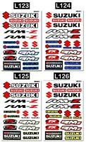 17 SUZUKI Motorcycle Stickers Logo Bike Motocross Helmet Graphics Vinyl Decals