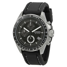 Fossil Men's Decker CH2573 Black Silicone Analog Quartz Watch