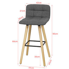 SoBuy Padded Kitchen Breakfast Bar Stool Dinging Chair Dark Grey Fst50-dg UK