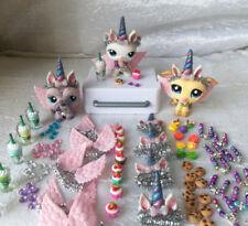 Littlest Pet Shop LPS PASTEL Unicorn ONE Set of 7 Custom Accessories (no pets)