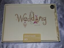 WEDDING GUEST BOOK CREAM LUXURY GUESTS MESSAGES KEEPSAKE WHSMITH RRP £14.99