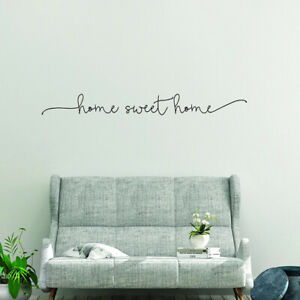 LETTER SWEET HOME WALL ART DECAL STICKER REMOVABLE LIVING ROOM HOME DECORATION A