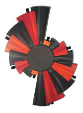 Blazing Red and orange Abstract Wall Decor Mirror sculpture with Metal 27x18