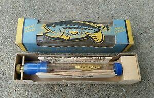 NOS New Vintage Antique Fishing FISH FINDER Thermometer Depth Gauge Cast Lure