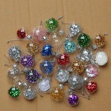 4cm Clear Glass Balls Wedding Party Decorative Balls Christmas Ornaments(random)
