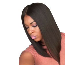 Women's Sexy Fashion Middle Part Straight Hair Wig Bob Full Wigs Top Lace Wig