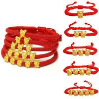 Chinese Animal Zodiac Lucky Bracelet Red Rope Animals Health Charm Fortune I5S8