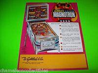 GOTTLIEB MAGNOTRON 1974 ORIGINAL NOS FLIPPER PINBALL MACHINE PROMO SALES FLYER